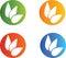 Stock Image : Leaves logos