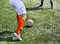 Stock Image : Legs of football players in action