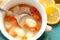 Stock Image : Lemon & dill gnocchi soup