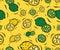 Stock Image : Lemons and Limes Seamless Pattern