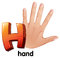 Stock Image : A letter H for hand