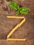 Stock Image : The letter Z with pasta