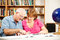 Stock Image : Library - Couple Studying
