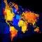 Stock Image :  Lichtgevende wereldkaart