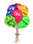 Stock Image : Life Balloons Bouquet Watercolor Painting