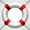 Stock Image : Life buoy in chains