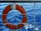 Stock Image : Lifebuoy and sea 1