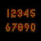 Stock Image : Lightbulb digits