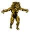 Stock Image : Lion scary sports mascot