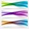 Stock Image : Liquid swoosh lines web headers or footers