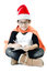 Stock Image : Little asian smile boy with santa hat