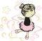 Stock Image : Little ballerina girl