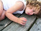 Stock Image : Little boy lying on the table