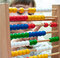 Stock Image : Little Girl with abacus