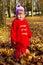 Stock Image : Little girl in autumn