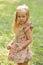 Stock Image : Little girl in the park