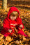 Stock Image : Little girl playing in autumn