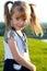 Stock Image : Little girl smiling  closeup