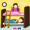 Stock Image : little kids on bunk bed