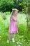 Stock Image : Little midsummer girl