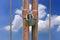 Stock Image : Lock key on rusty fence