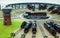 Stock Image : Locomotives Garage station