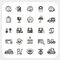 Stock Image : Logistics and Shipping icons set