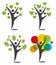 Stock Image : Logo Humanoid trees