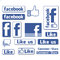 Stock Image : Facebook like button icons set