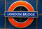 Stock Image : London Bridge underground sign