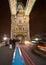 Stock Image : London cabs on Tower Bridge