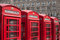Stock Image : London red telephone box