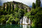 Stock Image : Long exposure panorama of waterfalls of the Krka river in Krka national park in Croatia