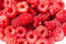 Stock Image : A lot of ripe raspberry close-up