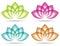 Stock Image : Lotus Logo