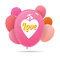 Stock Image : Love Colorful Balloons