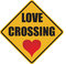Stock Image : Love crossing sign