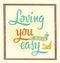 Stock Image : Loving you
