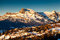 Aerial View on Ski Resort Megeve in French Alps