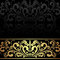 Stock Image : Luxury charcoal Background with golden Border.