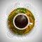 Stock Image :  Luxuskaffeetasse