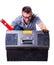 Stock Image :  Mężczyzna otwierał pudełko z narzędziami