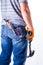 Stock Image :  Mężczyzna plecy z narzędziami