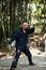 Stock Image : Mężczyzna sztuki taiji boks