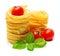 Stock Image : Macaroni with vegetables