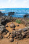 Stock Image : Magnetic round stone in Te Pito Kura, Easter island, Chile