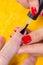 Stock Image : Making a manicure