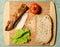 Stock Image : Making a Sandwich