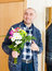 Stock Image : Man with  beautiful bouquet