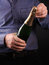 Stock Image : Man with bottle of wine